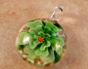 Murano Lampwork Flower Pendant