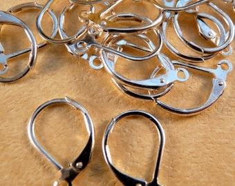 Silver Earwires Leverback Earwires Silver Findings