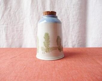 Old World Pottery Bottle Studio Cork Stopper Hand Thrown Midcentury Maine
