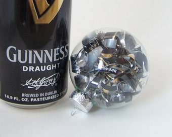 Recycled Guinness Beer Can Ornament