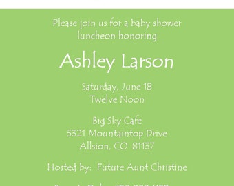 "Baby Shower Invitation ""Two Feet"""