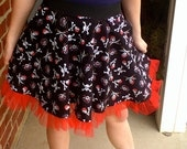 Pirate Skirt With Red Tulle