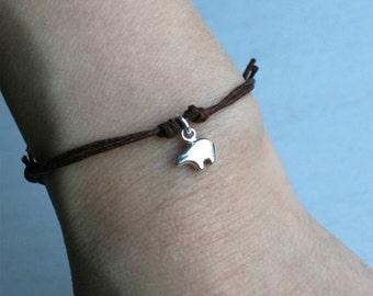 Tiny Bear Bracelet, Bear Anklet (many colors to choose)