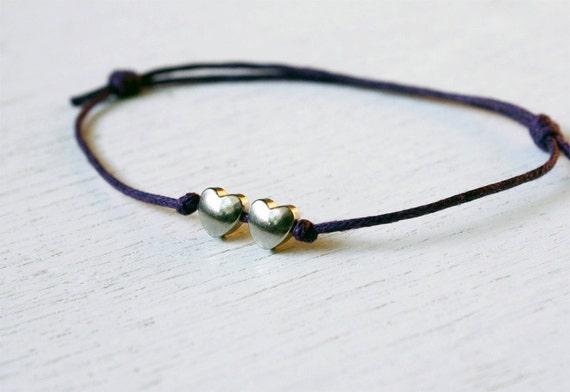 Heart to Heart - Double Heart Bracelet / Double Heart Anklet