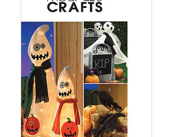Sew & Make McCall's M5488 SEWING PATTERN - Outdoor Halloween Decorations Ghosts Tombstones