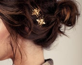 ETSY FEATURED Gold Bumble Bee Bobby Pins - The Original Hair Pins Featured on Etsy, Pinterest & Tumblr