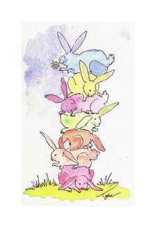 Funny Bunny Rabbit Card Easter Greeting Card Rabbit