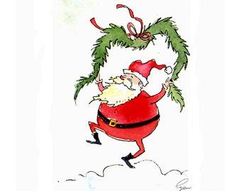 Christmas Greeting Card - Christmas Card - Funny Santa Christmas Card