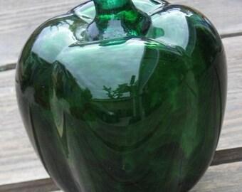 hand blown glass sculpture GLORIOUS GREEN Bell Pepper