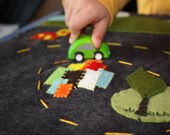 wool felt playmat - little city, big country