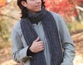 Basic Men's Ribbed Scarf Crochet Pattern PDF