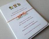 Lions, Tigers, and Bears - Baby Shower Invitations