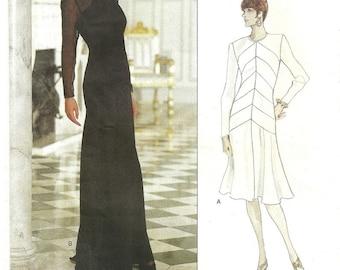 Vogue 1500 / Vintage Designer Sewing Pattern By Bellville sassoon / Evening Dress Gown / Sizes 8 10 12