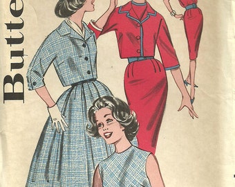 Butterick 9403 / Vintage 60s Sewing Pattern/  Dress And Jacket / Size 11