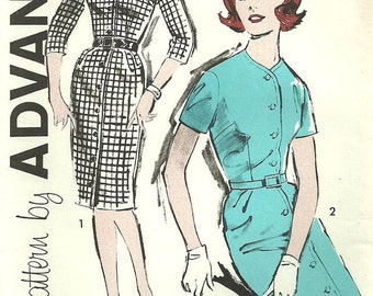 Vintage 60s Sewing Pattern // Advance 9753 // Shirtwaist Dress