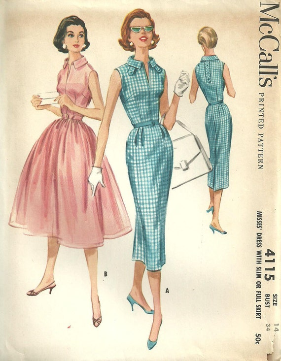 Vintage Fifties Sewing Pattern from McCalls 4115
