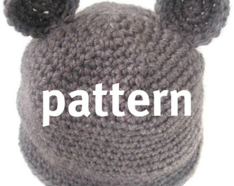 Bear Hat CROCHETING PATTERN, Baby Photography Prop, Sell What You Make, Digital Download