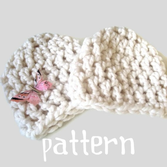 Baby Hat CROCHETING PATTERN 30 Minute Chunky Beanie Hat