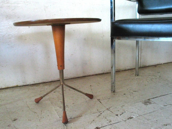 Danish Modern Teak Sputnik End Table   danish modern end table