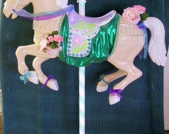 Carousel Horse on Stand Customer Pick Up Only!! Hand Decorated and Painted