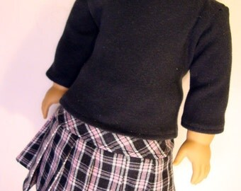 """Perfect Pink Plaid Skirt  for 18"""" Dolls"""