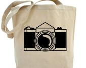 Camera Tote - Cotton Canvas Tote Bag