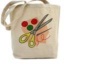 Sewing Bag - Cotton Canvas Tote Bag - CRAFT BAG