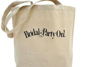 BRIDAL Party - Cotton Canvas Tote Bag - Wedding Tote - Gift Bags