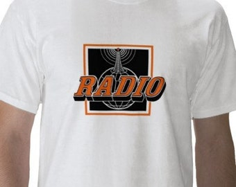 Radio T-Shirt - Mens Graphic Tee - Short Sleeve Cotton