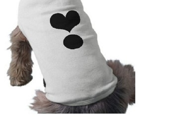Dog Tee Shirt - Black HEART