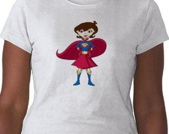 Super Mom T-Shirt - Graphic Tee - Womens Short Sleeve Cotton Tee