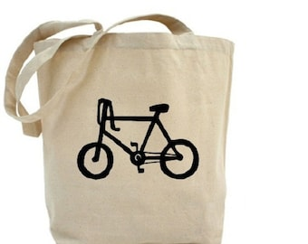 Bicycle Tote - Cotton Canvas Tote