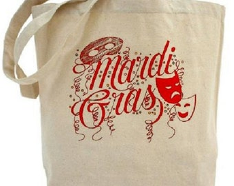 Mardi Gras Tote - Cotton Canvas Tote Bag