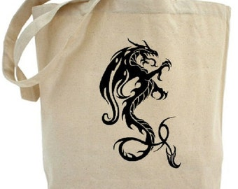 Dragon Tote - Cotton Canvas Tote Bag