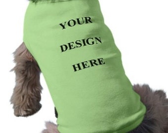 Dog T-Shirt - Custom Tee Shirt - Green