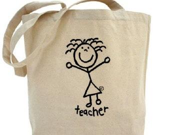 Teacher - Cotton Canvas Tote Bag - Gift Bag
