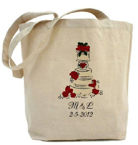 wedding cake bag wedding cake cotton canvas tote bag wedding tote gift 21775