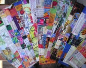 EcoFriendly Bookmarks, Reading is Sexy, Recycled, Repurposed, Green, LGBTQ, Rainbows, Bookmaking, Seriously Handmade, Reused, Books