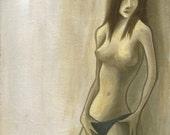 Sunlight Nude - 9 x 12 Acrylic Painting
