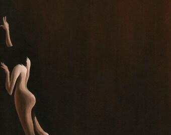 Figure on Canvas - 11 x 14 Acrylic Painting