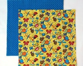 Kids Cloth Napkin, Fabric Lunch Box Napkin, 1 double sided napkin