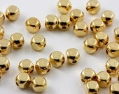 Gold plated 4mm cube beads (100)