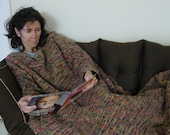 Crochet Snuggle throw with sleeves