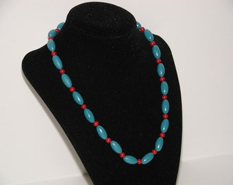Teal Polymer Necklace