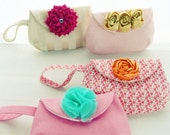 Fabric Sewing Pattern Purse Tutorial Louise - bride accessory / wedding purse/ bridesmaid clutch - coin purse - bag PDF