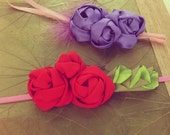 Fabric Flowers Tutorial Roses Headband Pattern -  PDF  - boho accessories DIY - floral accessory