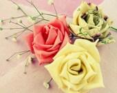 fabric flowers tutorial & ribbon flower tutorial - True Love Rose - N0 Sew at all - PDF easy beginner ebook