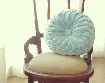 Round Pillow Smocked Sewing Pattern PDF - decorative smock cushion Vintage style pillow tutorial  - Instant DOWNLOAD