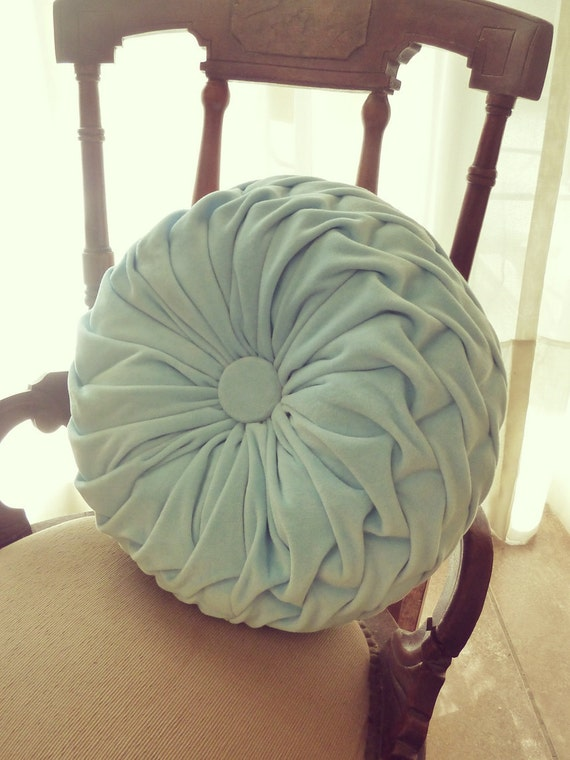 Smocked Round Pillow Tutorial - Instructions - PDF ebook - how to - pattern - DIY -  Vintage style