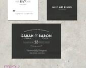 """wedding invitation vintage & chalkboard - """"Vintage Blackboard"""""""